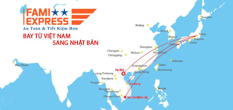 bay tu Viet Nam sang Nhat Ban