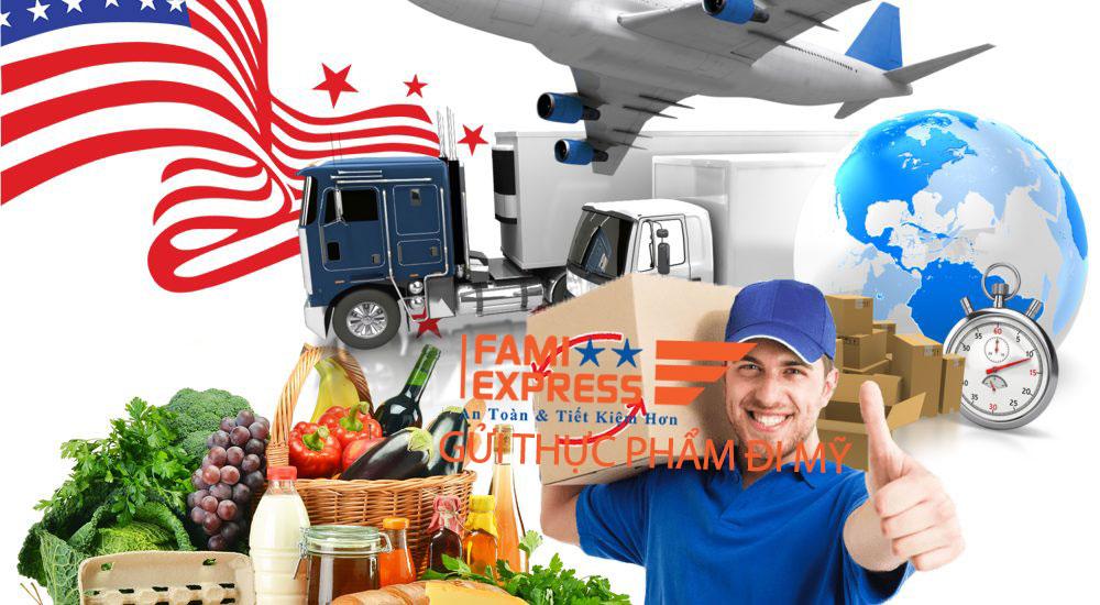 Gui thuc pham di My tai Fami Express
